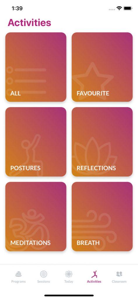 Yuva Yoga Activities types